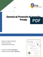Exposición de proyectos de la Gerencia de Promoción de la Inversión Privada