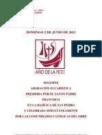 Libreto Para La Adoracion Eucaristica de Corpus Christi 2013
