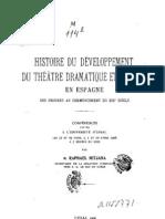 Histoire du développement du théâtre dramatique et musical en Espagne