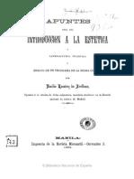 Apuntes para una introducción a la estética y literatura musical