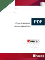 Informe Lab Acides en Jugos de Frutas