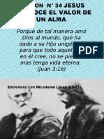 LECCION  N° 34 JESUS RECONOCE EL VALOR