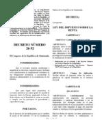 Dto. Nro. 26-92 Ley ISR cr (020602)