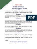 Ley de Bancos y Grupos Financieros (Derogado)