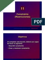 Constrains (Restricciones) Oracle
