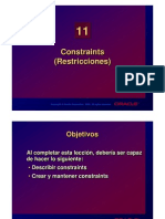 Constrains (Restricciones) Oracle