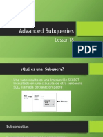 Advanced Subqueries