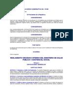 Reglamento Orgánico Interno del Ministerio de Salud Pública y A.S.