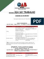 JUSTIÇA DO TRABALHO