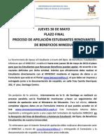 APELACIÓN RENOVANTES MINEDUC BENEF 2013
