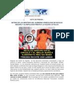 DETRAS DE LAS MENTIRAS DEL GOBIERNO VENEZOLANO DE MADURO Y SU REPULSION FRENTE A LA IGLESIA CATOLICA.pdf