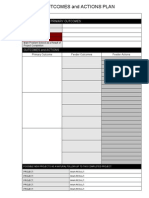 Outcomes and Actions Plan Form