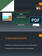 sedimentación unidad 5