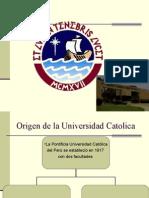 Origen universidad catolica