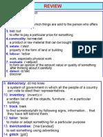 Vocabulary-Business English- Intermediate