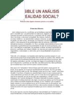 ANÁLISIS DE LA REALIDAD SOCIAL-POSIBILIDADES