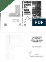 Azqueta (1998) Valoracion Económica Calidad Ambiental Caps 1 al 3