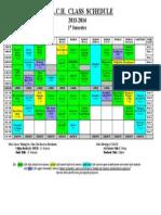Class Schedule 2013 - 1st Semester Rev 5-29