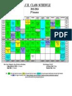 Class Schedule 2014 - 2nd Semester Rev 5-29