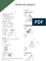 Formulario de Geometria Del Espacio