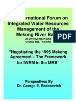 Mekong, Chiengmai Conference, Radosevich