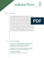 Newsletter Benedictus Stiftung April 2009