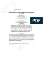 Numerical Solution of Gas Dynamics Equation Using Second Order Dynamic Mesh Technique