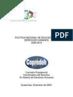 libro Política Educación Derechos Humanos 2006-2015