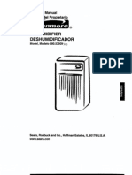 Kenmore Dehumidifier Manual