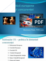 Actorii politicii europene în domeniul concurenței