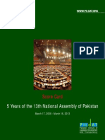 ScoreCard5Yearsof13thNationalAssemblyofPakistan