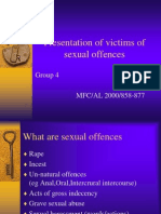 presentation of victims of sexual offences