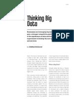 Thinking Big Data