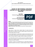 Diagnosis of the Internal Strategic Contrxy of the Company Strategic Analysis