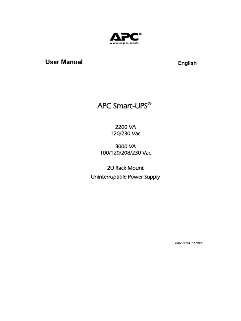 Apc Ups 3000 Manual Electrical Connector Battery Electricity Epo Wiring Diagram