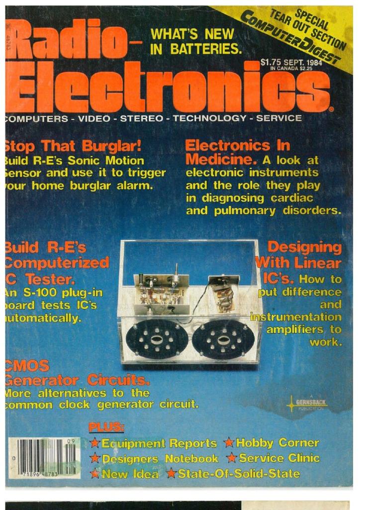 Re 1984 09 Electronics Electromagnetism Circuits Gt Simple Peak Detector Circuit Using Lm393 Uses Minimum