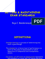 8. Setting and Maintaining Examination Standards
