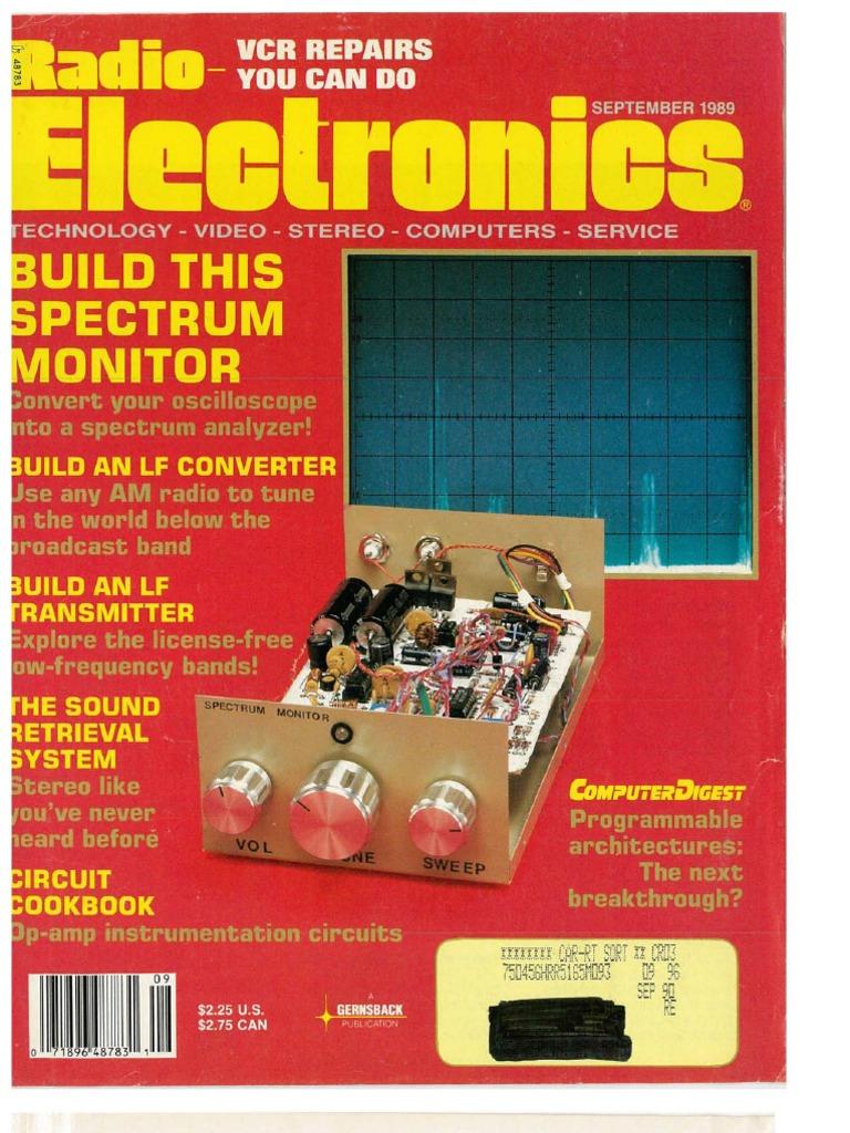 RE 1989 09 Videocassette Recorder