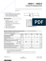 1n5819 TECHNICAL DATASHEET AND PINLAYOUT OF TRANSISTOR, INCLUDING PACKAGE DETAILS