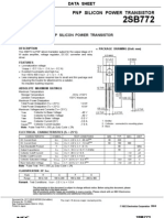 2SB772 TECHNICAL DATASHEET AND PINLAYOUT OF TRANSISTOR, INCLUDING PACKAGE DETAILS