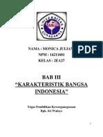 Bab III Karakteristik Bangsa Indonesia