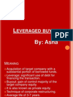 A Leveraged Buyout Story | Leveraged Buyout | Free Cash Flow