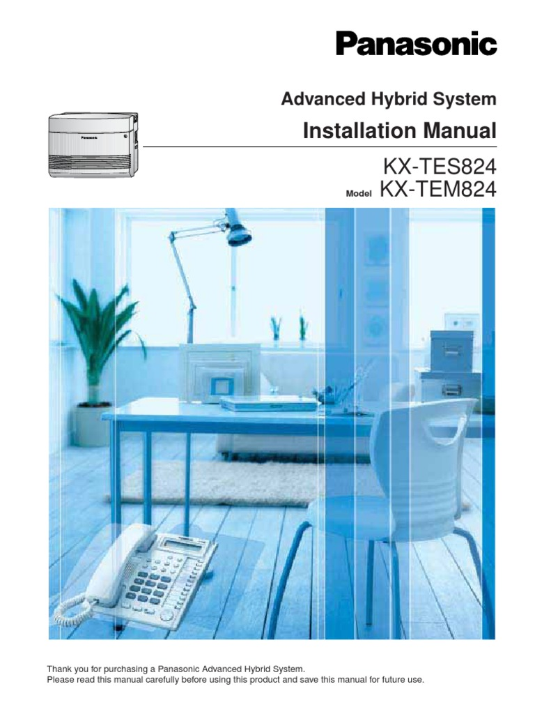 Panasonic KX-TES824 Installation Manual | Electrical Connector | Battery  (Electricity)