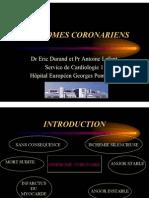 Syndromes Coronariens