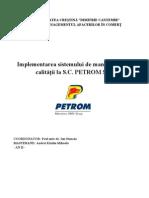 proiect petrom TQM