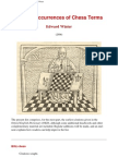 Edward Winter - Earliest Occurrences of Chess Terms