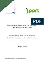Participant Development in Sport