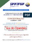 HORÁRIO DA CONCENTRAÇÃO 21 DE ABRIL 2009