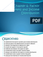 Factor Markets and Income Distribution