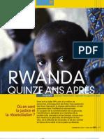 Rwanda 15 ans après -ACAT -